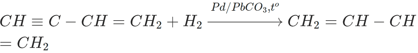 Phản ứng C4H4 ra C4H6
