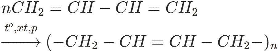 Phản ứng C4H6 ra polybutadien